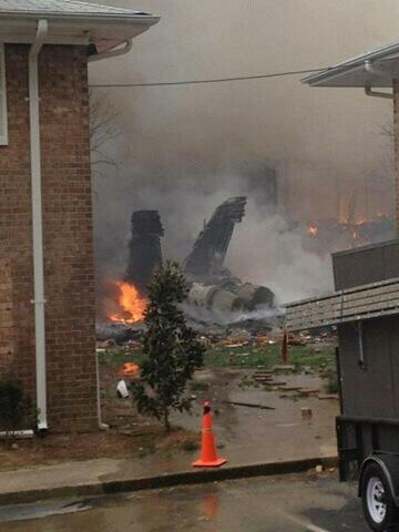 On April 6, 2012, a U.S. Navy F/A-18 jet with a student pilot and trainer on board crashed into a Virginia Beach, Va., neighborhood. Photo courtesy Jon Kight.