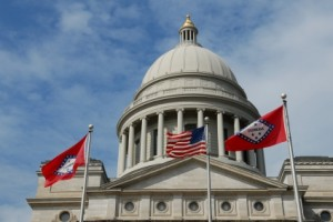 Photo iStock/David H. Lewis; Arkansas State Capitol