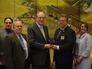 Presenting the award to Sen. Rockefeller.