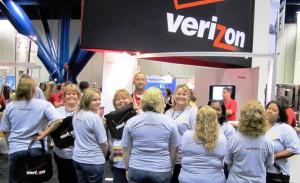 At the Verizon booth.