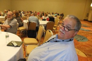 Past President Nate McClure attends the Committee Mixer on Saturday, Aug. 6.