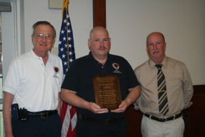 Frederick County PSAP Director, Chip Jewell & Telecommunicator of the year from Maryland, Richard Horner plus Chapter President, Chris McNamara