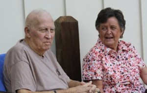 John Wyckoff with his wife of 56 years, Carolyn Marie Ulmer Wyckoff.
