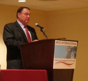 Lawrence Strickling speaking at the APCO International Broadband Summit. Photo Keri Losavio