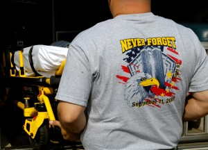 Employees at participating locations are wearing memorial T-shirts instead of normal Rural/Metro uniforms.