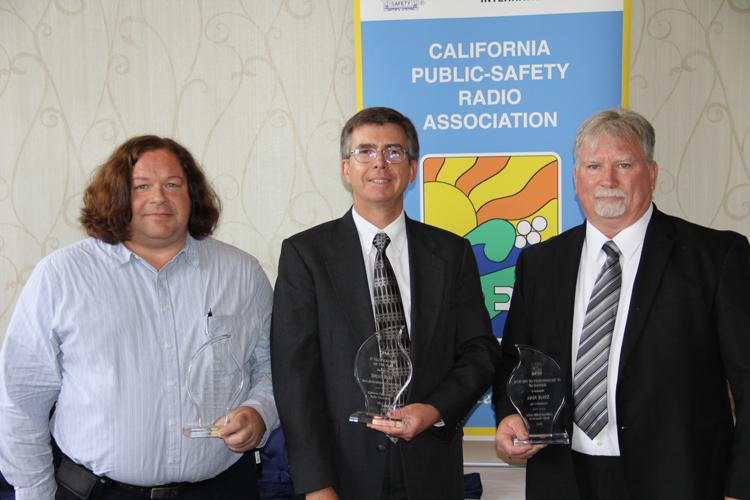 From left: RF Engineer of the Year Todd Paulick, IT Technologist of the Year Brent Rolf and RF Technologist of the Year Runner-Up Steve Hall