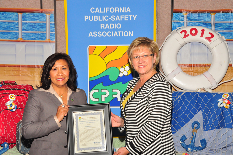 Assemblywoman, 61st Assembly District, Norma Torres was awarded a Commendation in Excellence for Service to Public Safety.