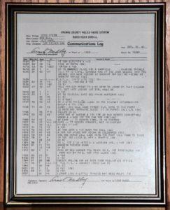 KGHX December 20, 1942 Police radio Dispatch Log