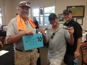 The last place group for 2nd year in a row – Jim Gordon, Paul Tomer and Todd Turner.