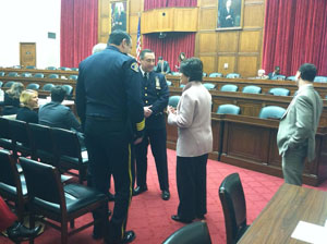 Public Safety Alliance leaders with Rep. Eshoo before the mark up.