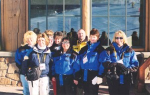The Snow Basin dispatch team, with Weber Area Dispatch Center Operations Manager Kim McAllister (front left)
